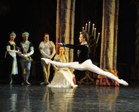 Siegfried very happy-The prince adult ceremony-ballet Swan Lake Stock Photo