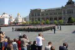 Siegparade Stockbild