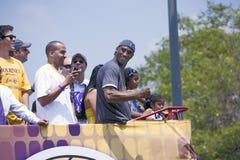 Siegparade für den 2009 NBA Meister Lizenzfreies Stockbild