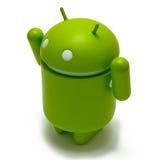 Siegreicher androider Roboter Stockfotos
