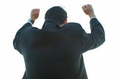 Siegreicher Geschäftsmann Lizenzfreie Stockbilder