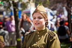 Siegtagesfeiern in Moskau Stockbilder