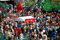 Siegtagesfeiern in Moskau Stockfotografie