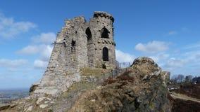 Siegue el castillo Cheshire England del poli Imagenes de archivo