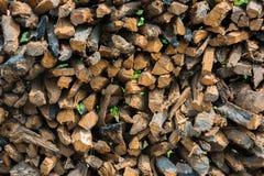 Siekać bele drewno Fotografia Royalty Free