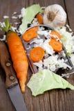 siekający świezi warzywa Zdjęcia Royalty Free