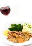 siekający piec na grillu wieprzowiny polędwicy stku wierzchołek Zdjęcie Royalty Free