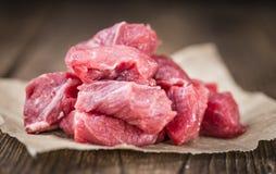 Siekający wołowina stek zdjęcie royalty free