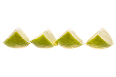 siekający zieleń odizolowywający wapno Obrazy Stock