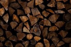 Siekająca drewniana sterta Obrazy Royalty Free