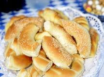 siekający bagel pices Obrazy Royalty Free