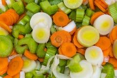 Siekający warzywa Zdjęcie Royalty Free