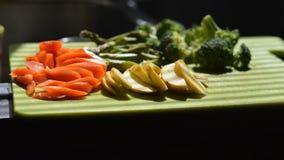 Siekający warzywo zdjęcia stock
