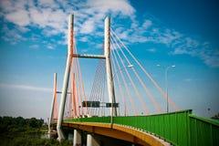 Siekierkowski. Bridge in Warsw toned image Stock Photography