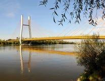Siekierowski linowy most Obrazy Royalty Free