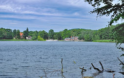 Sielbeck,Lake Kellersee,Eutin,holstein Switzerland,Germany. View to Village of Sielbeck at Lake Kellersee near Eutin,holstein Switzerland,Schleswig-Holstein Stock Image