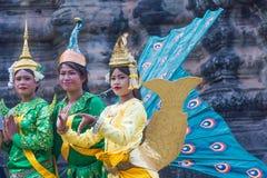 SIEM ΣΥΓΚΕΝΤΡΏΝΕΙ, ΚΑΜΠΌΤΖΗ 24 Φεβρουαρίου 2015: Μη αναγνωρισμένοι Καμποτζηανοί στο NA Στοκ Εικόνες