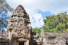 Siem oogst, Kambodja - 30 Nov. 2016: Thommanontempel in Angkor A Royalty-vrije Stock Foto's