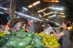 Siem oogst voedselmarkt, Kambodja 5 september, 2015 Stock Afbeeldingen