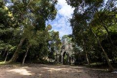 Siem Przeprowadza żniwa Angkor Wat Angkor Thom Wschodnią bramę, brama nieboszczyk Zdjęcie Stock