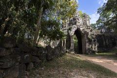 Siem Przeprowadza żniwa Angkor Wat Angkor Thom Wschodnią bramę, brama nieboszczyk Obraz Stock