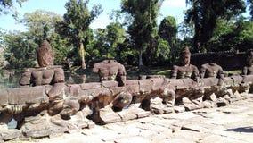 Siem Przeprowadza żniwa Kambodża świątynną bezgłową rzeźbę Fotografia Royalty Free