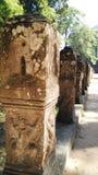 Siem Przeprowadza żniwa Kambodża świątynną rzeźbę Zdjęcia Royalty Free
