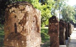 Siem Przeprowadza żniwa Kambodża świątynną rzeźbę Obraz Royalty Free
