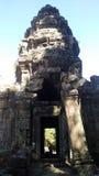 Siem Przeprowadza żniwa Kambodża świątynnego głównego drzwi Obrazy Stock