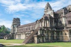 Siem Przeprowadza żniwa, Kambodża, Dec - 05 2016: Angkor Wat sławny Historyczny Zdjęcie Stock