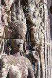 Siem Przeprowadza żniwa, Kambodża, Dec - 08 2016: Bayon świątynia w Angkor Thom Obraz Stock