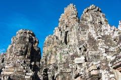 Siem Przeprowadza żniwa, Kambodża, Dec - 08 2016: Bayon świątynia w Angkor Thom Obrazy Stock