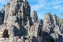 Siem Przeprowadza żniwa, Kambodża, Dec - 08 2016: Bayon świątynia w Angkor Thom Zdjęcia Royalty Free