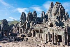 Siem Przeprowadza żniwa, Kambodża, Dec - 08 2016: Bayon świątynia w Angkor Thom Zdjęcie Royalty Free
