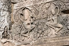 Siem Przeprowadza żniwa, Kambodża, Dec - 08 2016: Bayon świątynia w Angkor Thom Obraz Royalty Free