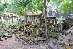 Siem Przeprowadza żniwa, Kambodża, Dec - 03 2016: Beng Mealea sławny Histori Obraz Royalty Free