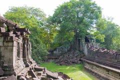 Siem Przeprowadza żniwa, Kambodża, Dec - 03 2016: Beng Mealea sławny Histori Zdjęcie Stock