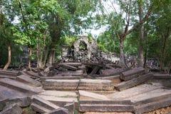 Siem Przeprowadza żniwa, Kambodża, Dec - 03 2016: Beng Mealea sławny Histori Fotografia Royalty Free