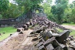 Siem Przeprowadza żniwa, Kambodża, Dec - 03 2016: Beng Mealea sławny Histori Zdjęcie Royalty Free