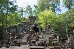 Siem Przeprowadza żniwa, Kambodża, Dec - 03 2016: Beng Mealea sławny Histori Fotografia Stock