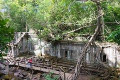 Siem Przeprowadza żniwa, Kambodża, Dec - 03 2016: Beng Mealea sławny Histori Zdjęcia Stock