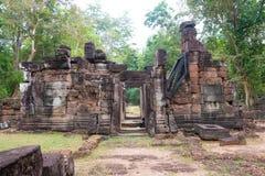 Siem Przeprowadza żniwa, Kambodża, Dec - 13 2016: Krol Ko w Angkor sławny h Obrazy Stock