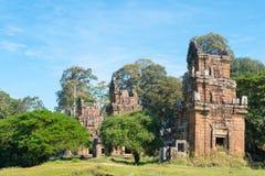 Siem Przeprowadza żniwa, Kambodża, Dec - 08 2016: Prasat Suor Prat w Angkor Th Zdjęcia Royalty Free