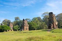 Siem Przeprowadza żniwa, Kambodża, Dec - 08 2016: Prasat Suor Prat w Angkor Th Obraz Royalty Free
