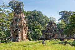 Siem Przeprowadza żniwa, Kambodża, Dec - 08 2016: Prasat Suor Prat w Angkor Th Obrazy Stock