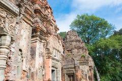 Siem Przeprowadza żniwa, Kambodża, Dec - 01 2016: Preah Ko w Roluos świątyniach A Obraz Royalty Free