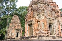 Siem Przeprowadza żniwa, Kambodża, Dec - 01 2016: Preah Ko w Roluos świątyniach A Zdjęcie Stock