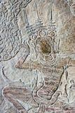 Siem Przeprowadza żniwa, Kambodża, Dec - 05 2016: Ulga przy Angkor Wat famou Fotografia Royalty Free