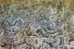 Siem Przeprowadza żniwa, Kambodża, Dec - 05 2016: Ulga przy Angkor Wat famou Zdjęcie Stock