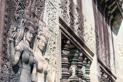 Siem Przeprowadza żniwa, Kambodża, Dec - 05 2016: Ulga przy Angkor Wat famou Zdjęcia Royalty Free